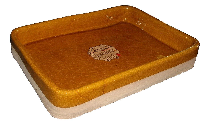 Alfarería Pereruela Siglo XVI Pottery pereruela 16th Century aprec35–Grill Rectangular Refractory Clay Authentic, 35cm C. B.
