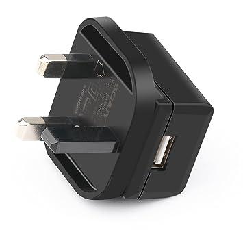 SOAIY - Cargador USB con enchufe adaptador de 3 clavijas del ...