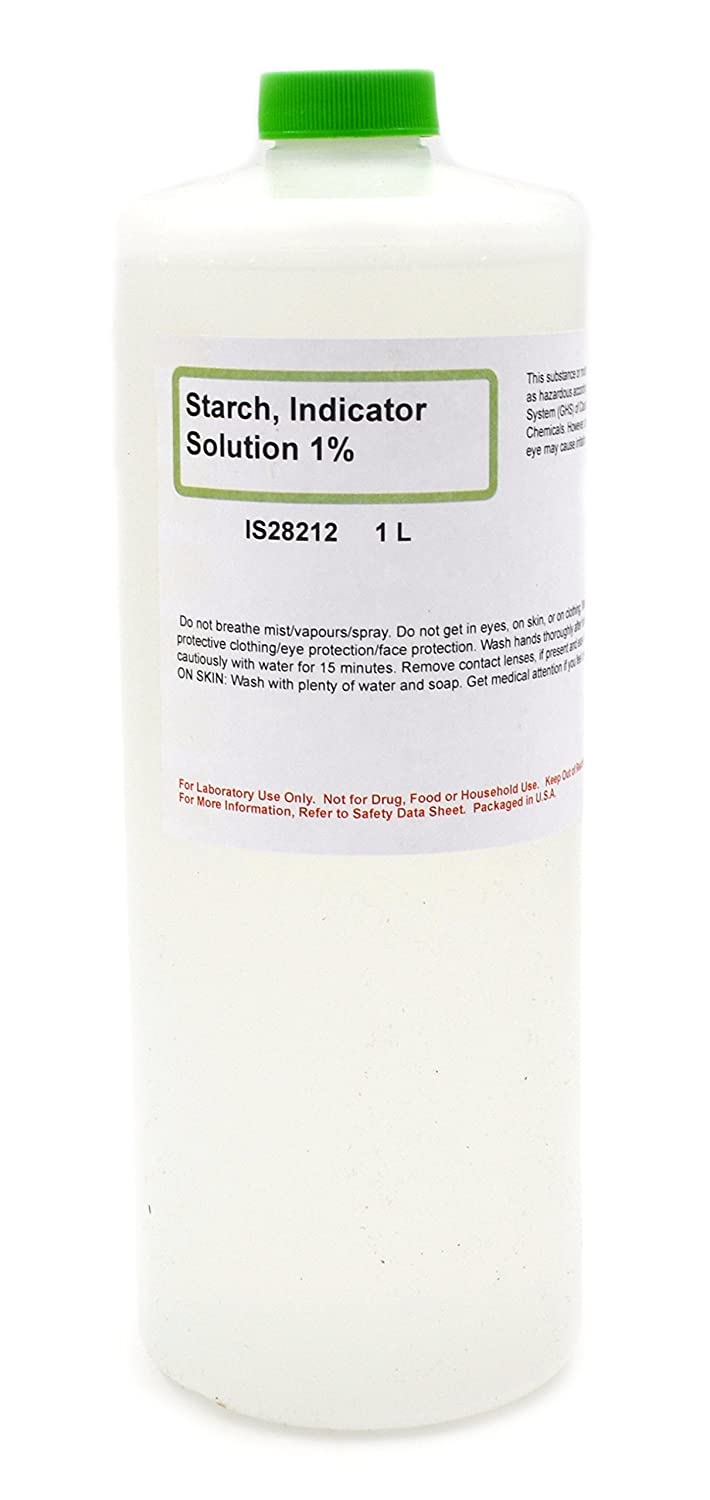 1% Starch Indicator Solution, 1L - The Curated Chemical Collection