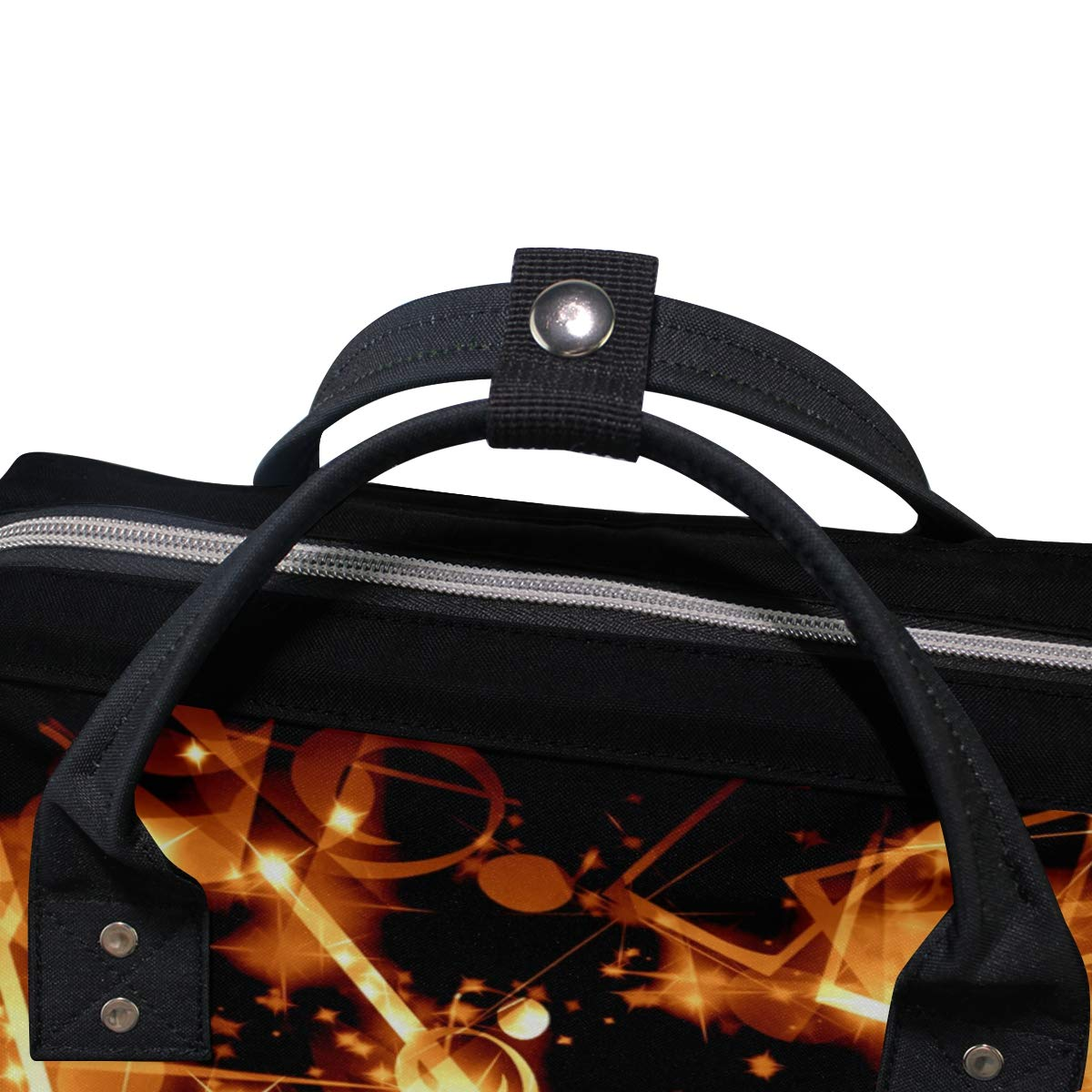 imobaby Glaring Music Notes Changing Bags Large Capacity Handbags Canvas Shoulder Bag Backpack