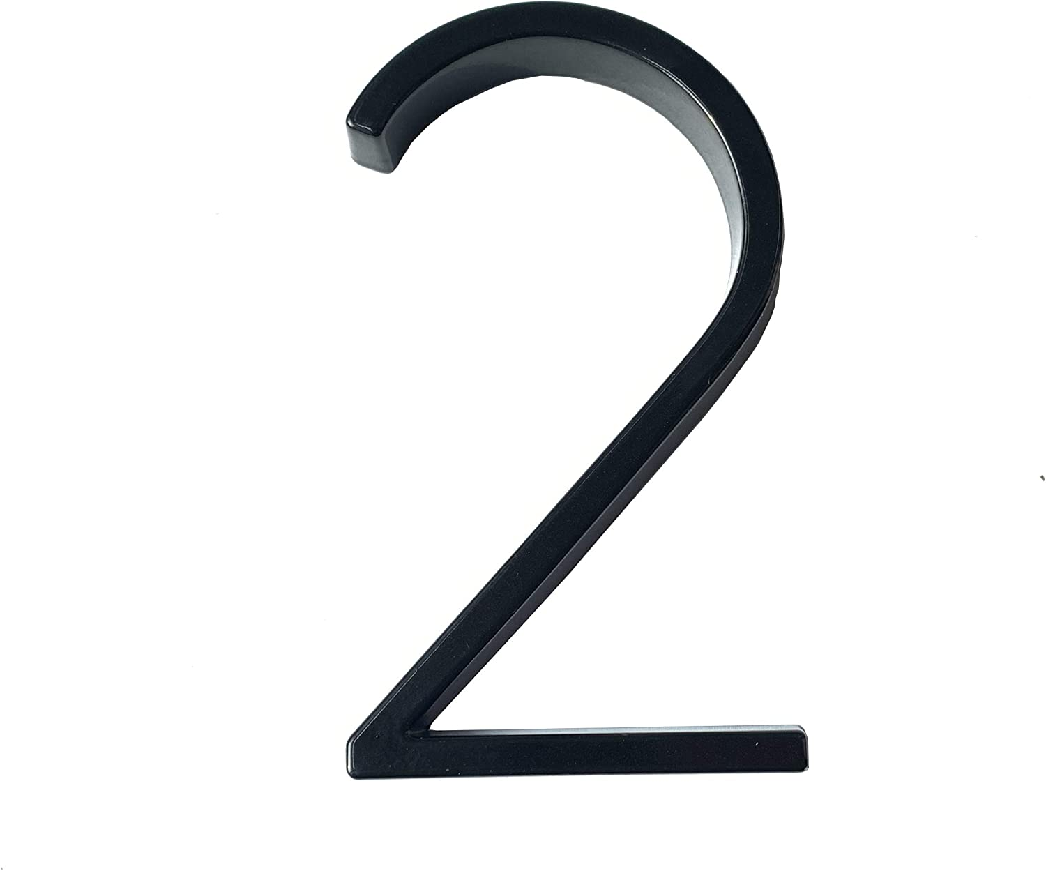 Bebarley 5 Inch Modern Black Zinc Alloy Floating Mount House Numbers and Street Address Plaques Door Numbers