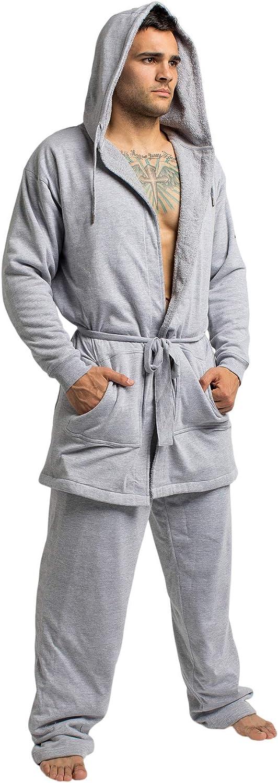 DudeRobe Men's Hooded Robe and Sweatpants Set   As Seen on Shark Tank!