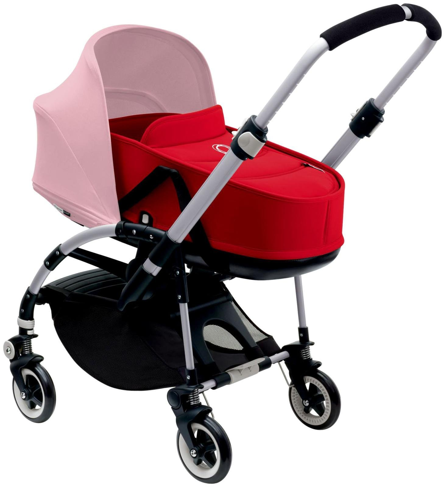 Bugaboo Bee3 Bassinet & Sun Canopy - Soft Pink - Red