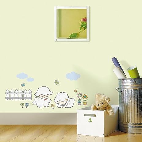 Amazon.com: Jiniy Sheep Wall Art Decor Mural Decal Sticker(KRS0107 ...