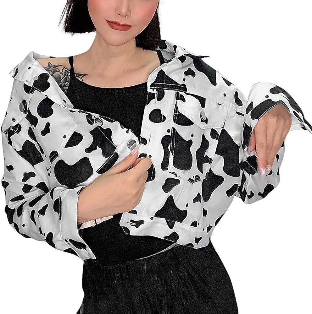 Chaqueta para mujer de Transwen, con estampado de leche, color ...
