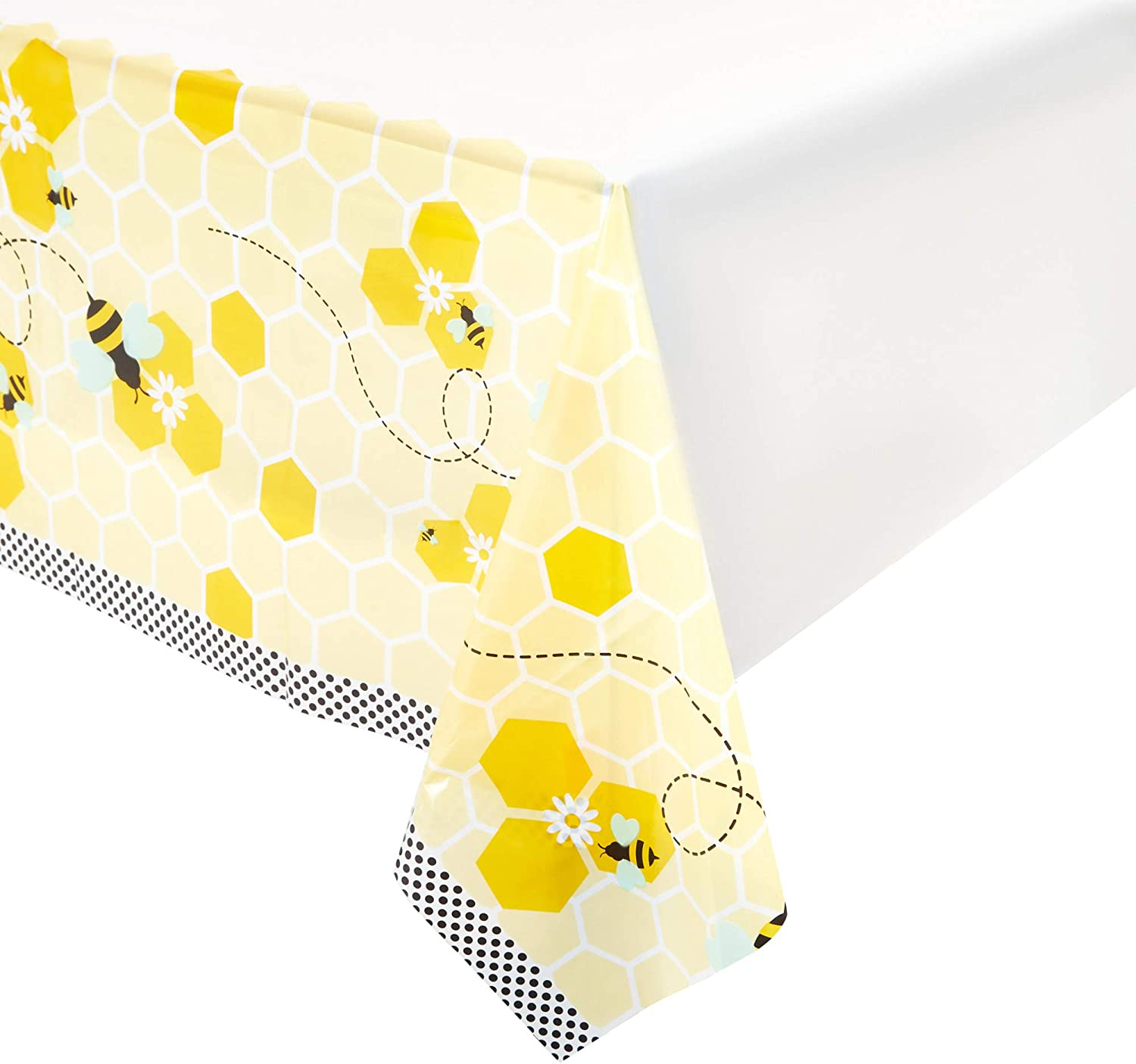 Bumble Bee Party Table Covers (54 x 108 in, 3 Pack)