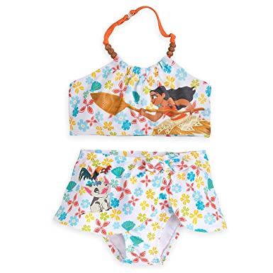 0388300d2b8cf Amazon.com: Disney Moana Two-Piece Swimsuit For Girls: Clothing