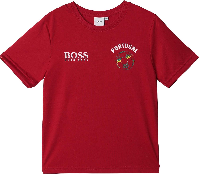 BOSS Camiseta de algodón Estampada NIÑO Amapola 16AÑOS: Amazon.es: Ropa y accesorios
