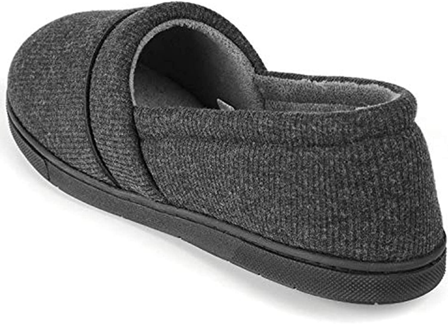 B07MZ4H3R4 ULTRAIDEAS Women\'s Comfy Memory Foam Cotton Knit Slippers, Ladies\' Plush Terry Lining Loafer Lightweight House Shoes with Indoor Outdoor Anti-Skid Rubber Sole 71cXcssxshL