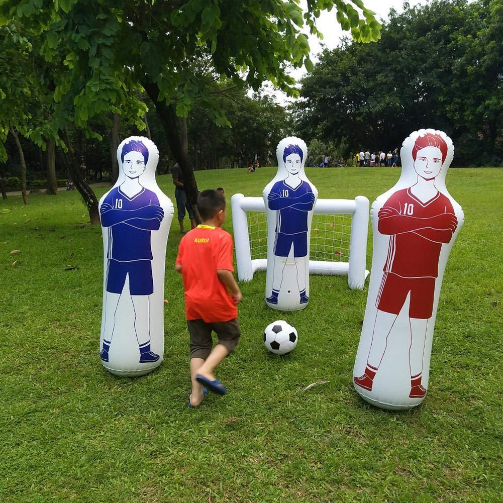 Hinchable Entrenamiento Fútbol, Gol Keeper Columna Soporte Simulado por Goteo Wall Ejercicios De Pases, Inflables Fútbol Entrenamiento Goal Keepe