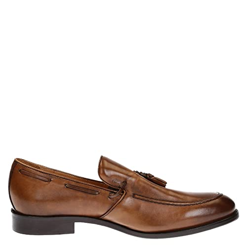 Men's 07013FORMA40NAIROBICUOIO Brown Leather Loafers