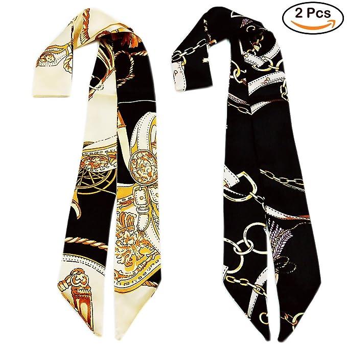 玩好复古穿越时尚,丝巾要窄的才最时髦