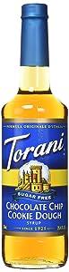Torani Sugar-Free Chocolate Chip Cookie Dough Drink Syrup, 750mL bottle