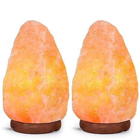 Amazon.com: Lámpara de sal de Himalaya, forma natural, con ...