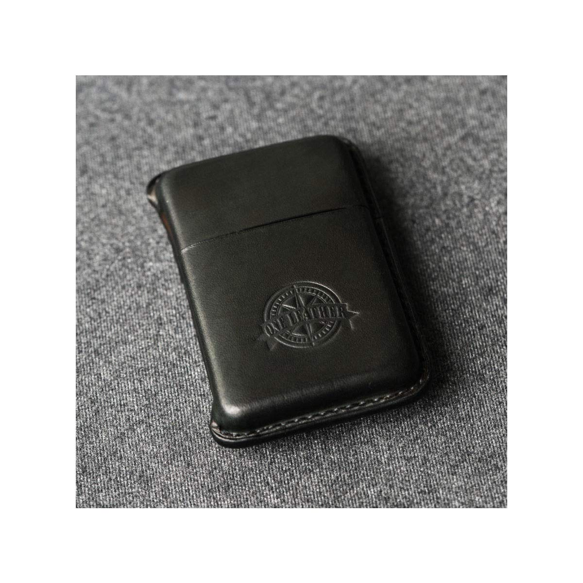 ZHONGYUE Leather Handmade Cigarette Case, Creative Gift Cigarette Case, Portable Cigarette Case, Can Hold 10 Cigarettes, Black, Green, Brown, Beige Unique Design, Sturdy and Lightweight.