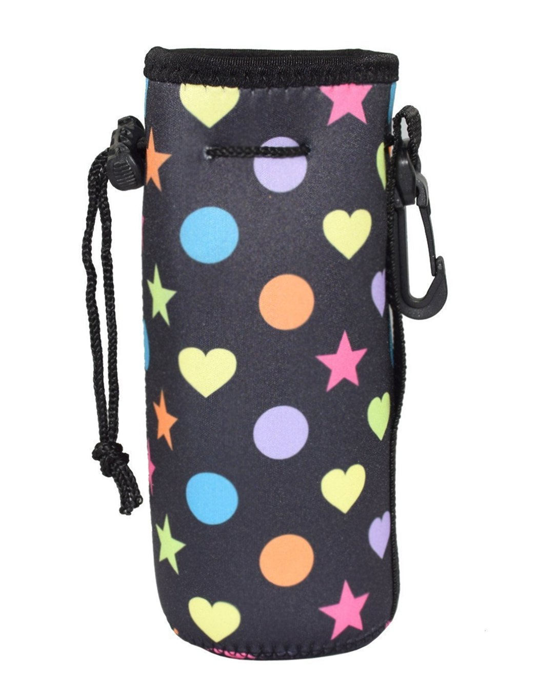 Protable Neoprene Insulated Water Bottle Cooler Cooler Carrier Cover Sleeve Tote Bag Pouch Holder Strap for Kid Children Women Men Biker Orchidtent Water Bottle Sleeve