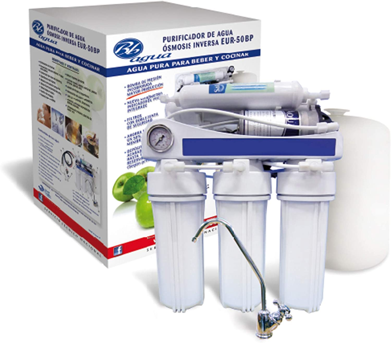 Bbagua Equipo de Osmosis Inversa de 5 Etapas con Bomba de presión ...