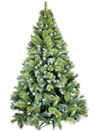 christmas tree wuudi 6ft natural pine tree with solid metal legs artificial christmas tree - Flat Back Christmas Tree