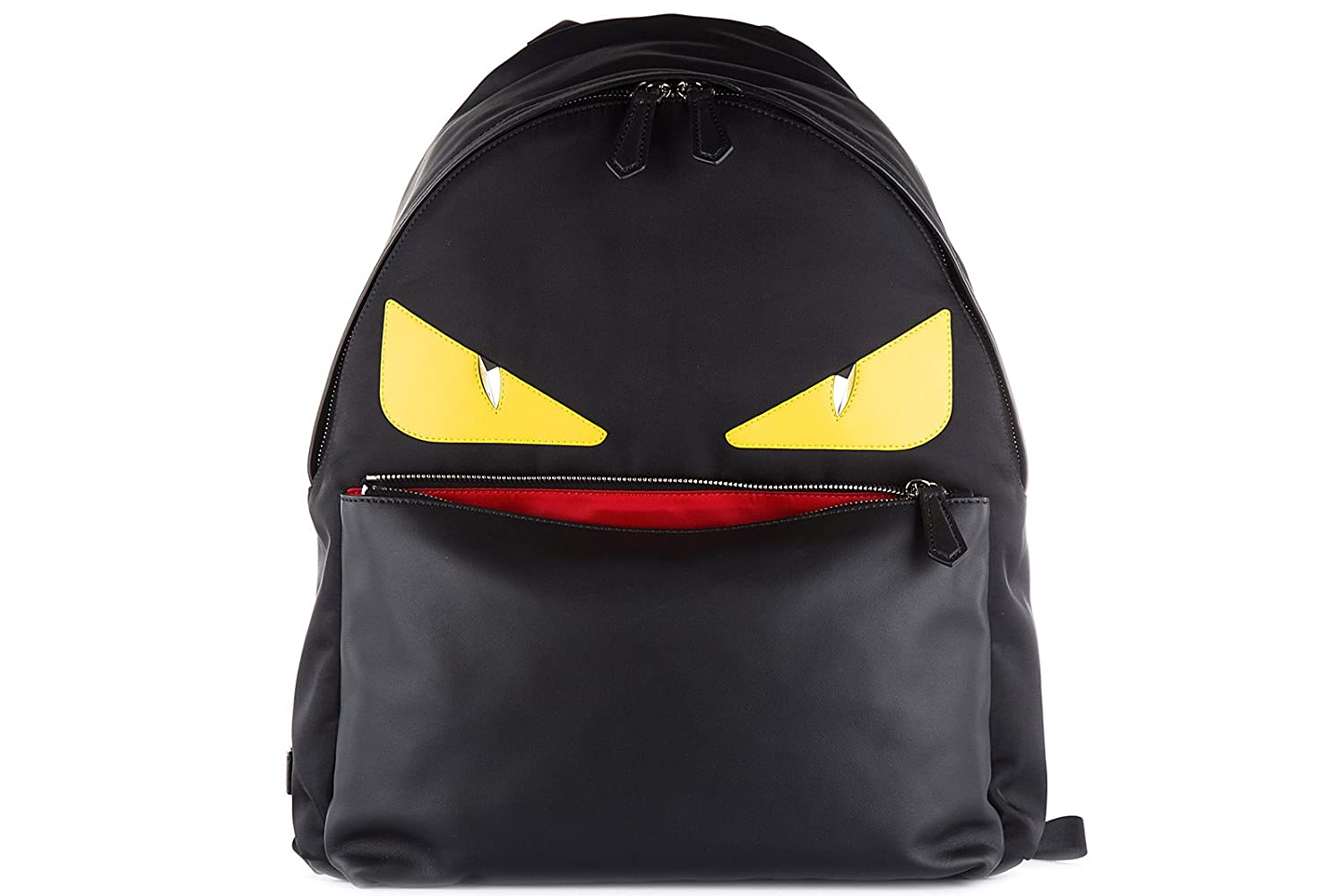 02931af86cce Amazon.com  Fendi men s rucksack backpack travel stondato calfskin century  occhi black  Shoes