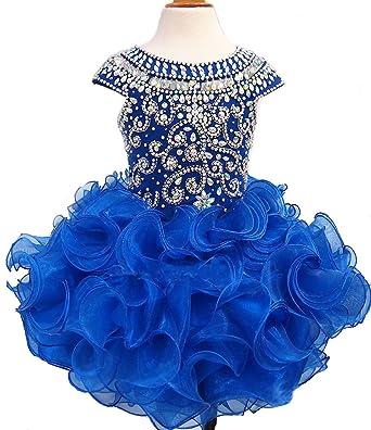 Festzug Kleid Glitzer Hochzeits Mädchen Ebelz Partei Blumen Qplsgvzum mNn0w8