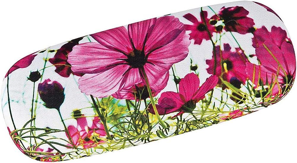 VON LILIENFELD Brillenetui Blumenwiese Hardcase Box Leicht Geschenk Stabil Set mit Putztuch Floral