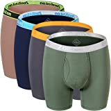ZONBAILON Men's No Ride Up Bamboo Boxer Briefs Long Leg Underwear for Men Pack(5 or 7) M L XL XXL XXXL