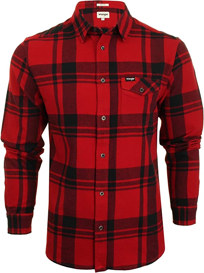 Wrangler W5932S Camisa Hombre Beige L: Amazon.es: Ropa y accesorios