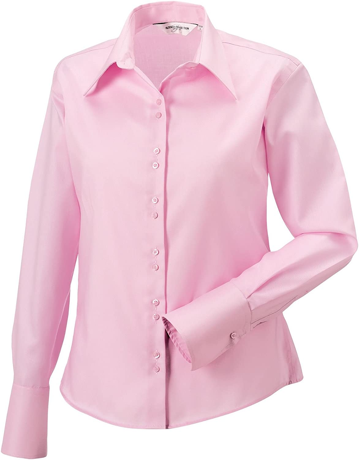 Russell Collection camisa manga larga Non Iron 956 F Classic Pink L/14: Amazon.es: Ropa y accesorios