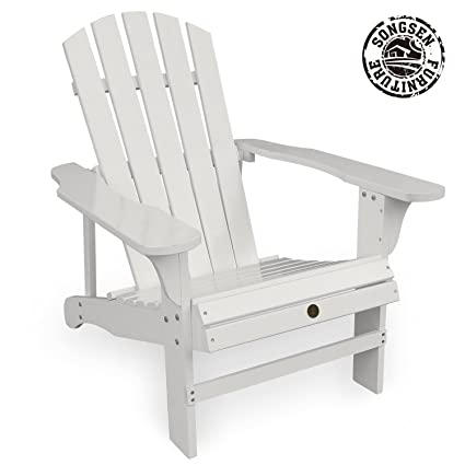 Songsen Fashion Outdoor Wood Adirondack Chairs/Muskoka Chair Patio Deck  Garden Furniture (Adult,
