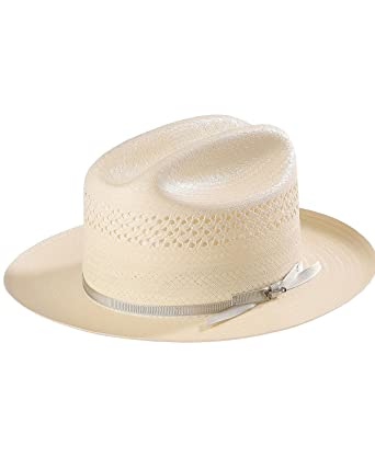ee73238b Stetson Men's Natural Open Road 4 Straw Hat Natural 6 7/8 at Amazon ...