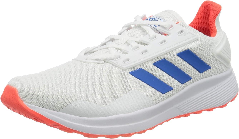 adidas Duramo 9, Zapatillas para Correr para Hombre, FTWR White/Glory Blue/Solar Red, 39 1/3 EU: Amazon.es: Zapatos y complementos