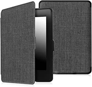 TERSELY Slimshell Case for All-New Kindle 10th Generation, 2019 Released (Model No.J9G29R), Smart Shell Cover Protective PU Leather Cover with Auto Sleep/Wake for Amazon Kindle 2019 (Carbon)