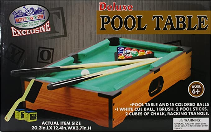 Perfect Life Ideas Desktop Miniature Pool Table Set Mini Pool Balls - Tabletop pool table full size