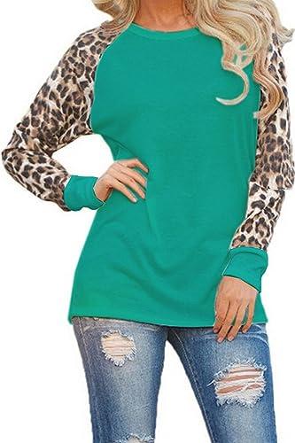 La Mujer De Manga Larga Con Estampado De Leopardo De Otoño Colorblack T Shirt Tunic Top Tee
