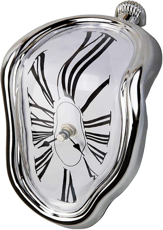 Creatov - Reloj de mesa, con diseño de flujo de tiempo de fusión (decorativo, inspirado en Salvador Dali)