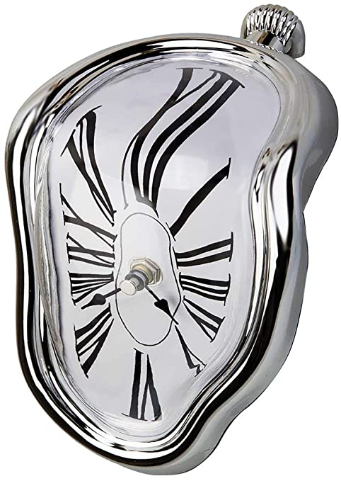 Creatov - Reloj de mesa, con diseño de flujo de tiempo de fusión (decorativo