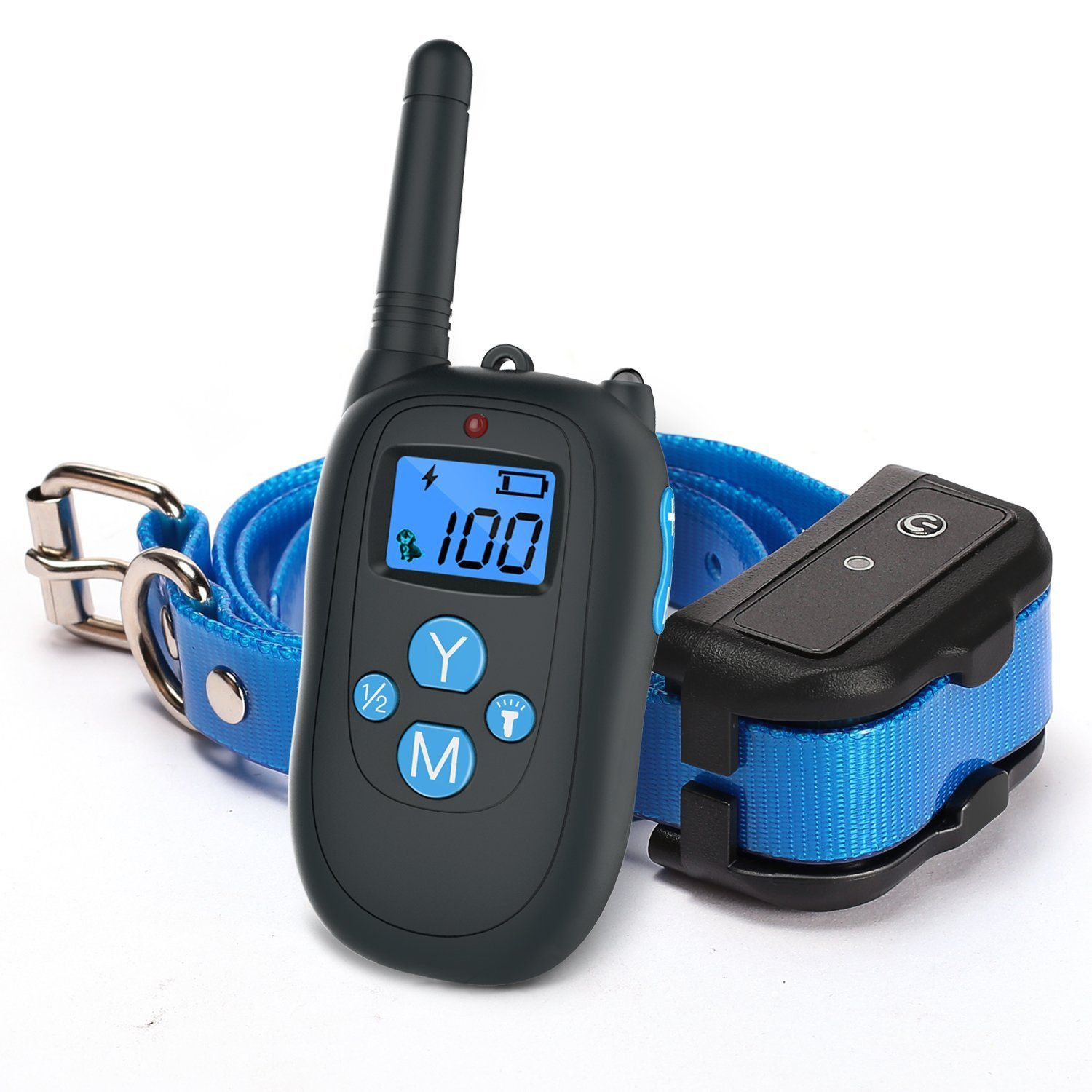 ALTMAN Dog Shock Collar 1000ft Remote Training and 100% Waterproof Rechargeable Shock Collar with Beep Vibration and Electric Dog Collar Dogs