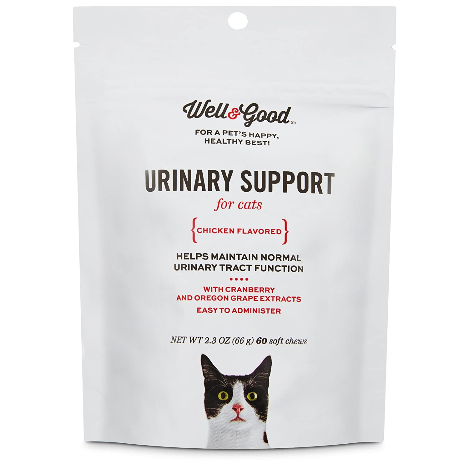 2.3 OZ Well & Good Urinary Support Cat Chews, Pack of 60 Chews, 2.3 OZ