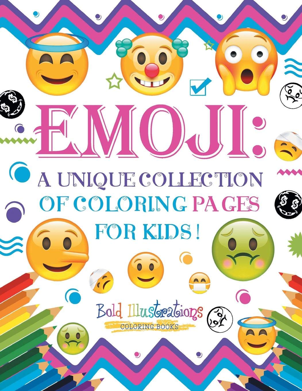 Emoji A Unique Collection Of Coloring Pages For Kids Bold