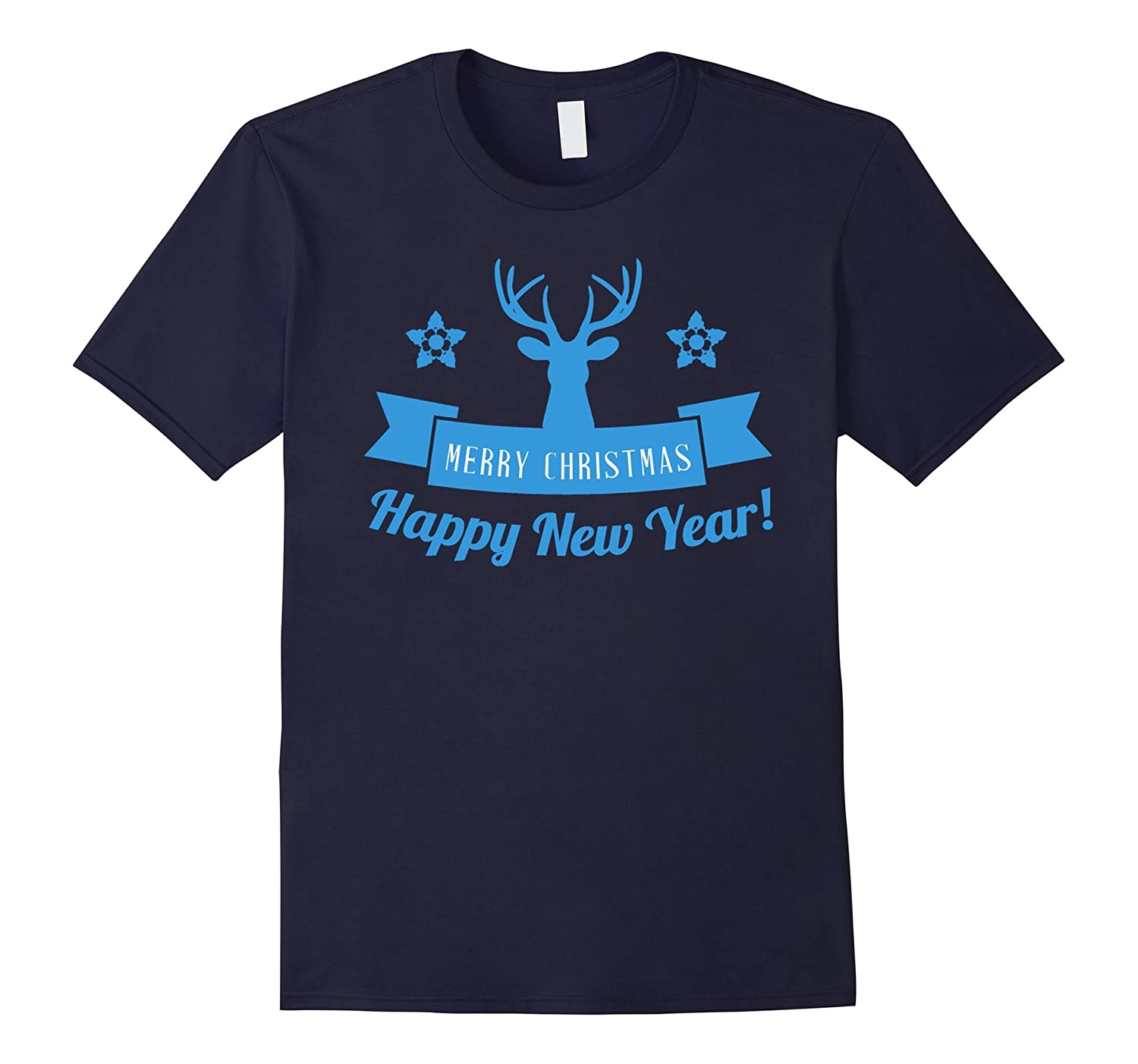 Merry Christmas And Happy New Year T Shirt Reindeer T-Shirt-CL