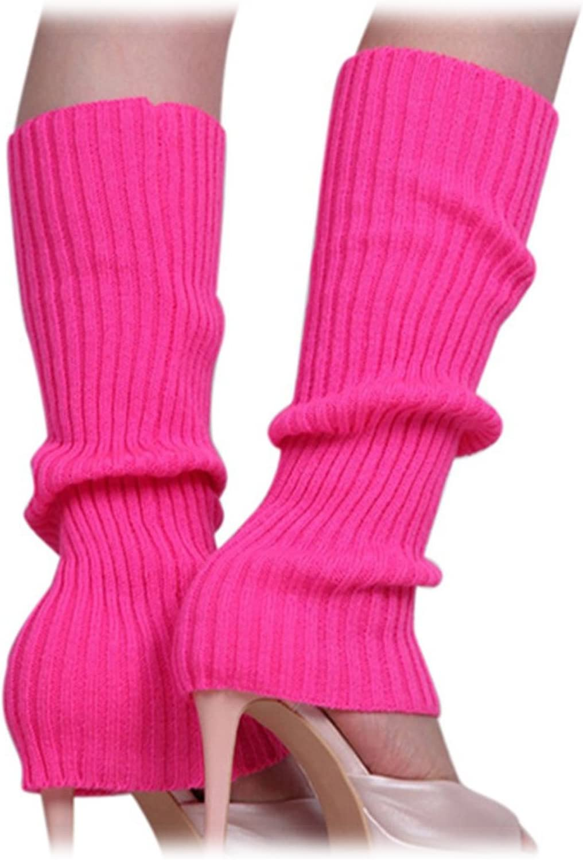 SODIAL Calentadores de pierna sin pies tejidos de Color solido de ...