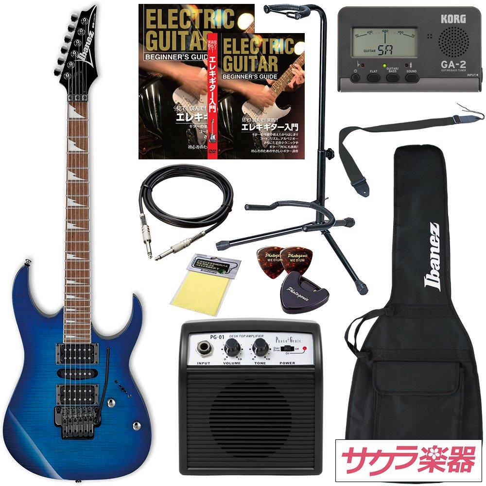 Ibanez アイバニーズ エレキギター RG370FMZ SPB/Sapphire Blue サクラ楽器オリジナルミニアンプセット【PG-01】 B07D7NNWM9 アンプ:PG01 / カラー:SPB