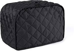 MOSKOS 4-Slice Toaster Cover, Kitchen Small Appliance Cover, Universal Size Microwave Oven Dustproof Cover(Black)