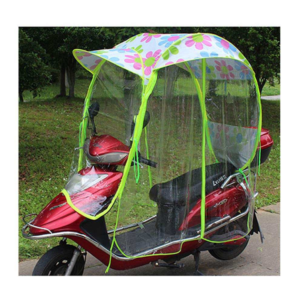 Queiting Universal Car Motor Scooter Umbrella Mobility Sun Shade /& Rain Cover Waterproof Butterfly