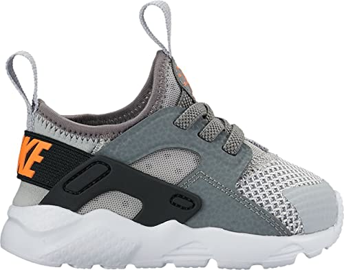 abc1c44562248 Nike Baby Shoes Huarache Run in Gray Fabric and Black Calling 859594-013   Amazon.co.uk  Shoes   Bags
