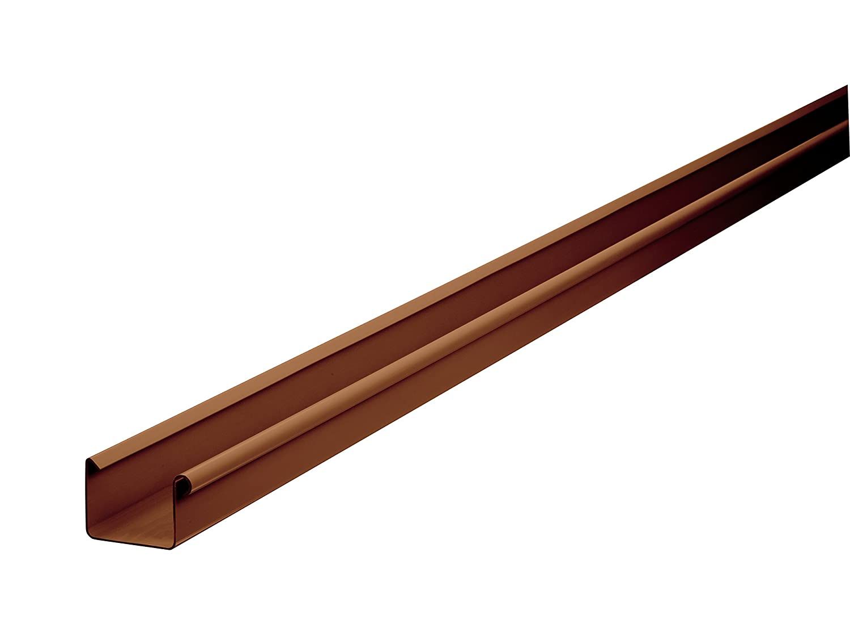 Kunststoff braun INEFA Kastenrinne NW 83 Dachrinne 200 cm kastenf/örmig Regenrinne