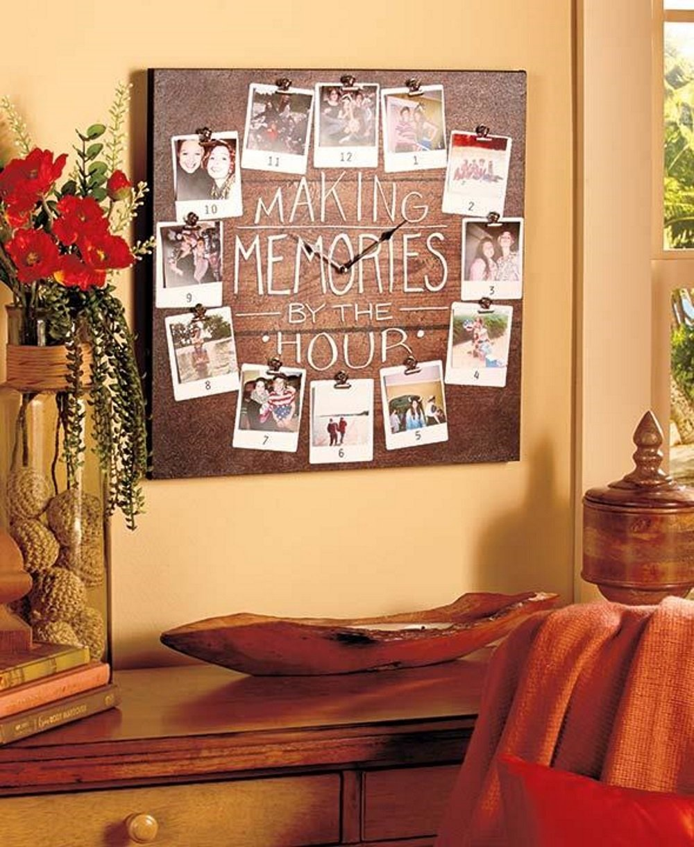 Amazon lakeside collection 892041013 making memories photo amazon lakeside collection 892041013 making memories photo wall clock home kitchen jeuxipadfo Images