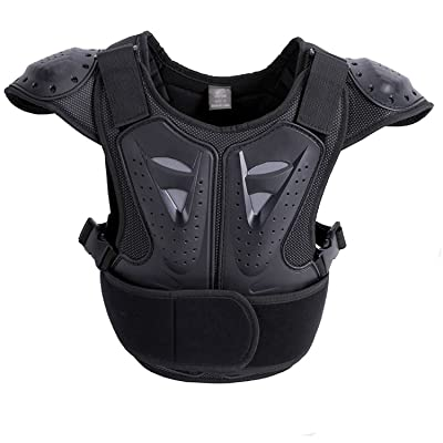 SUTON Body chest spine protection armor vest protector child cycling skating armor vest : Sports & Outdoors