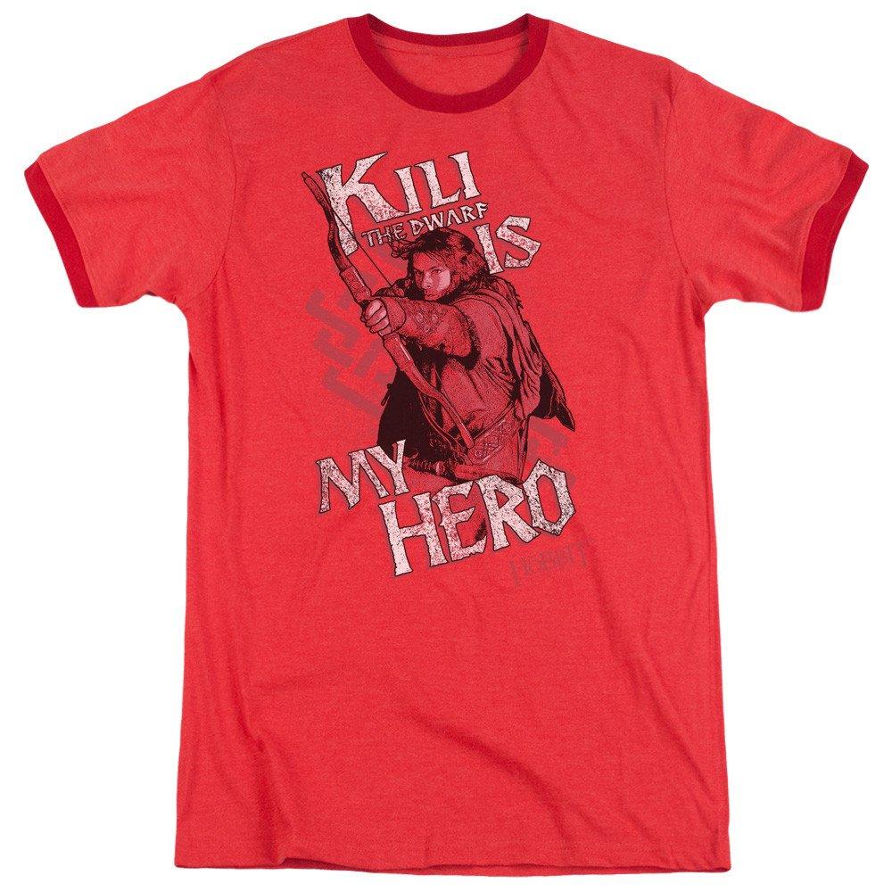 Shirt The Hobbit Kili Is My Hero Adult Ringer T