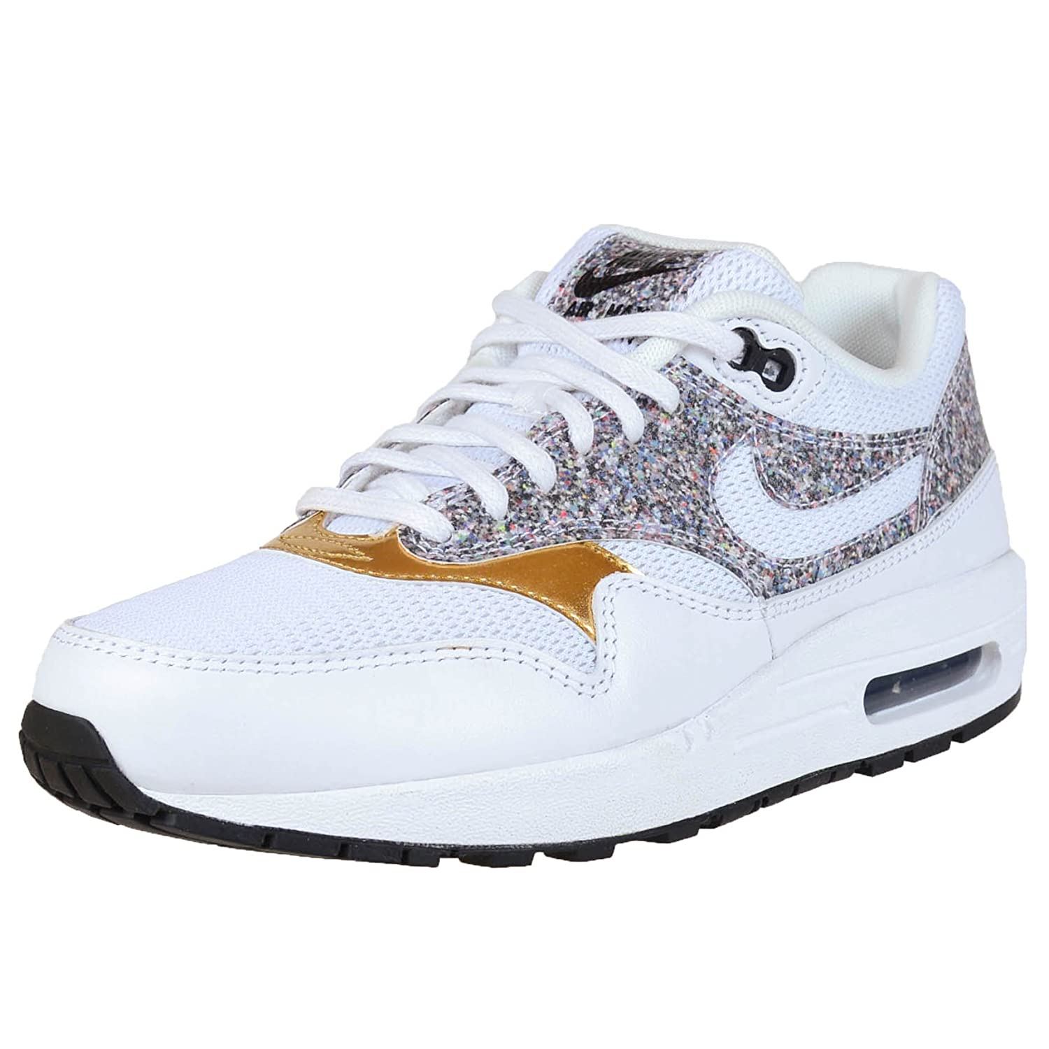 Nike Womens Air Max 1 Se Running Trainers 881101 Sneakers Shoes ホワイト/ホワイト/ブラック 9 B(M) US